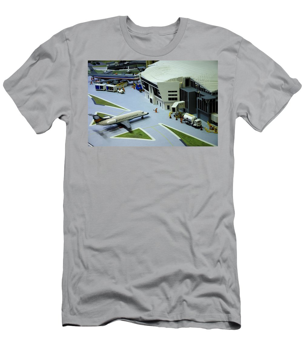 Legoland Men's T-Shirt (Athletic Fit) featuring the photograph Legoland Dallas IIi by Ricky Barnard