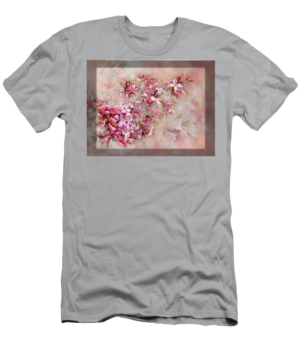 Men's T-Shirt (Athletic Fit) featuring the photograph Lilacs And Wegia by Debbie Portwood