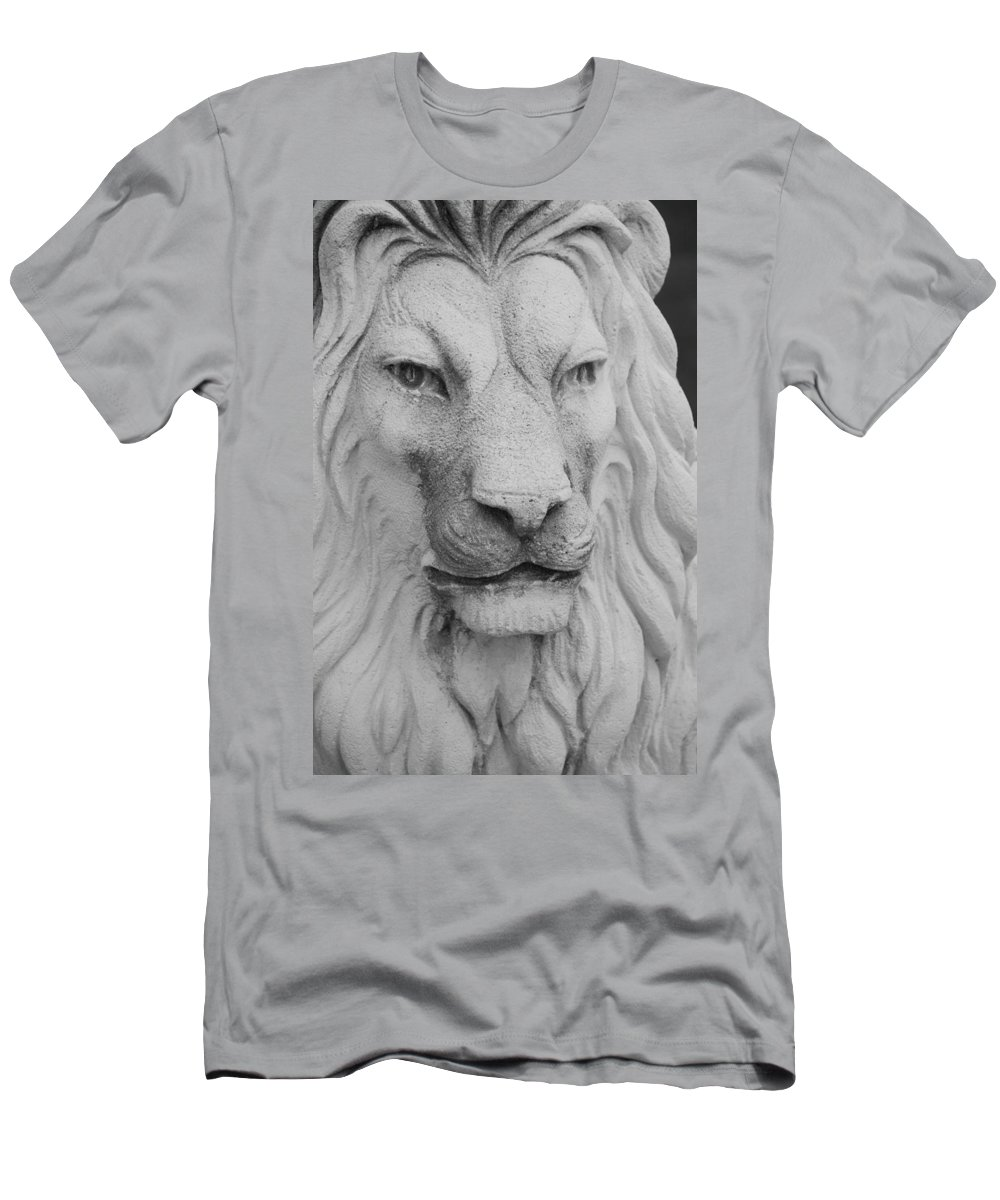 Lion Men's T-Shirt (Athletic Fit) featuring the photograph Lion In Stone by Rob Hans