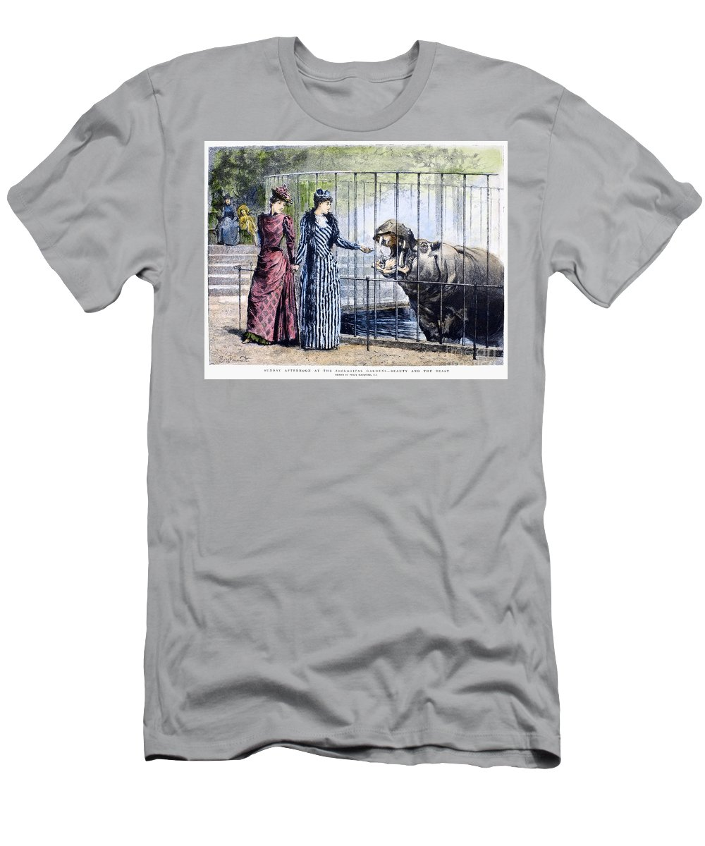 1891 Men's T-Shirt (Athletic Fit) featuring the photograph London Zoo, 1891 by Granger