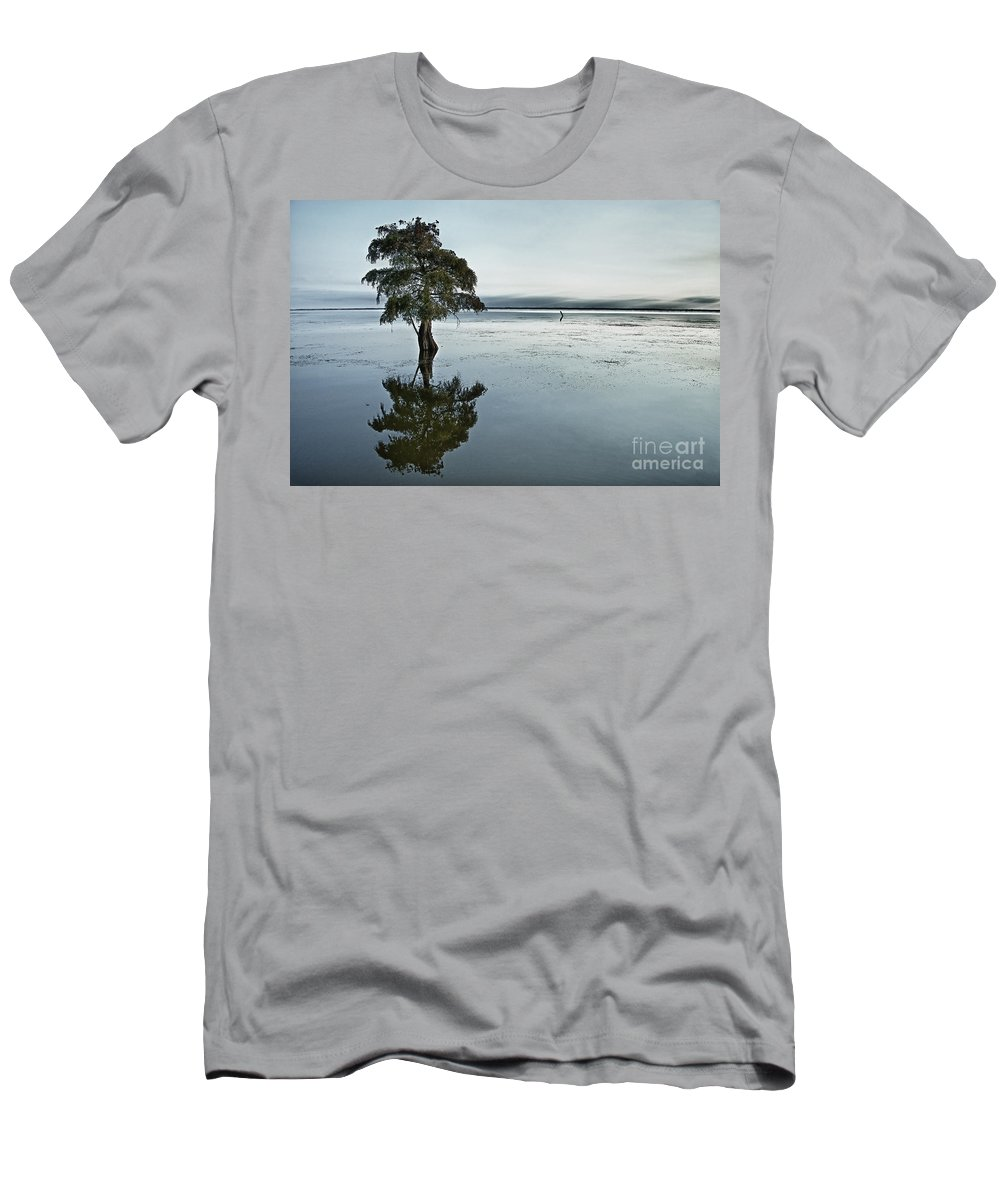 Individual Men's T-Shirt (Athletic Fit) featuring the photograph Lone Cypress Tree In Water. by John Greim