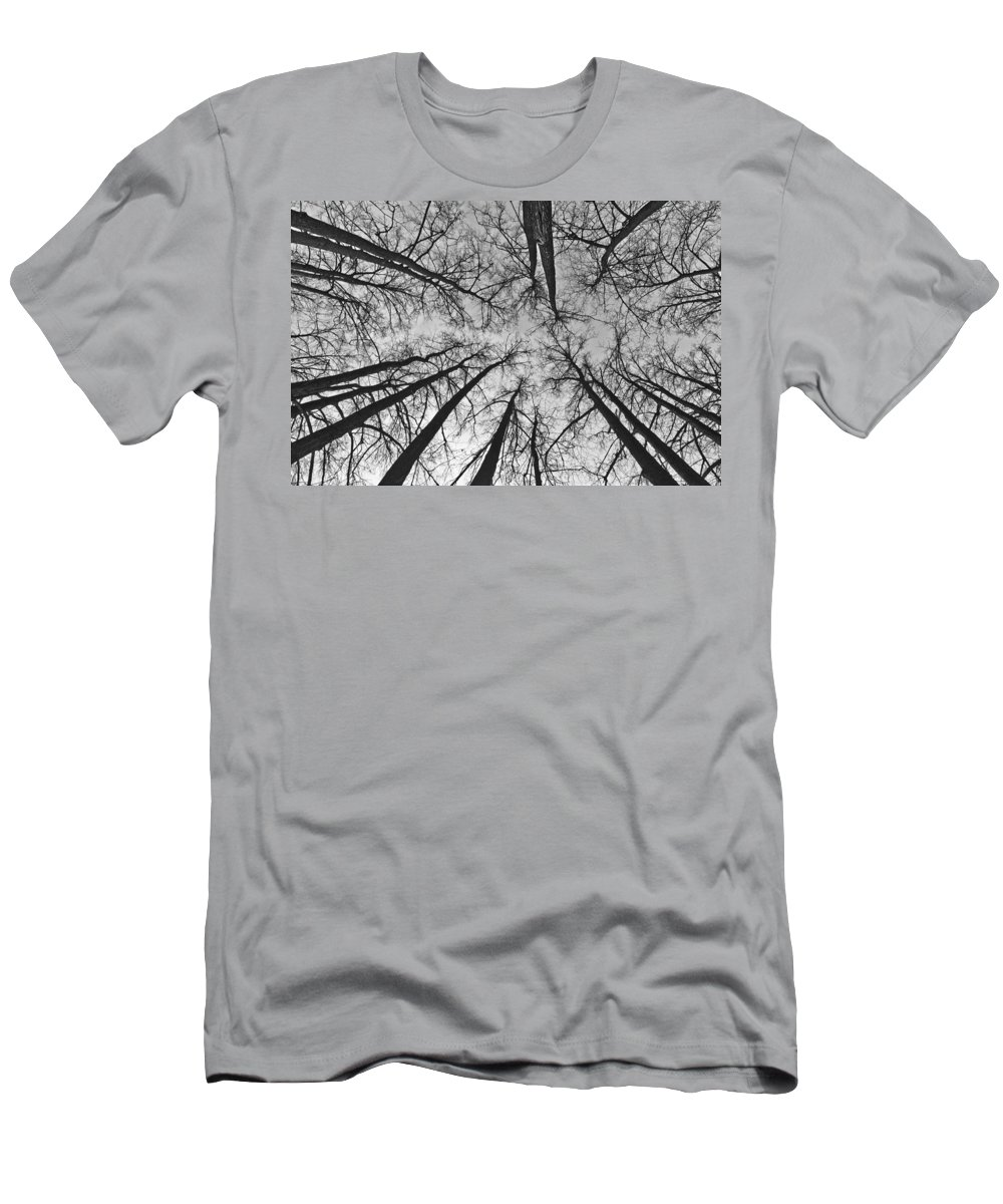 Landscape Men's T-Shirt (Athletic Fit) featuring the photograph Look Up by Michael Goyberg
