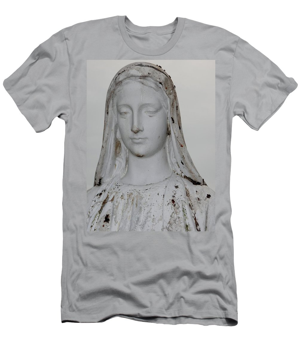 Mary Statue Men's T-Shirt (Athletic Fit) featuring the photograph Mary by Michele Nelson