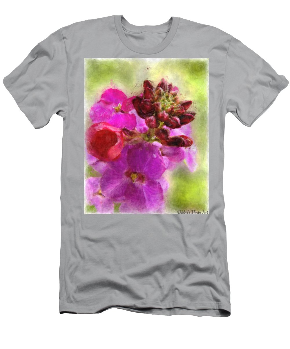 Bitanical Men's T-Shirt (Athletic Fit) featuring the digital art Mellow Magenta by Debbie Portwood