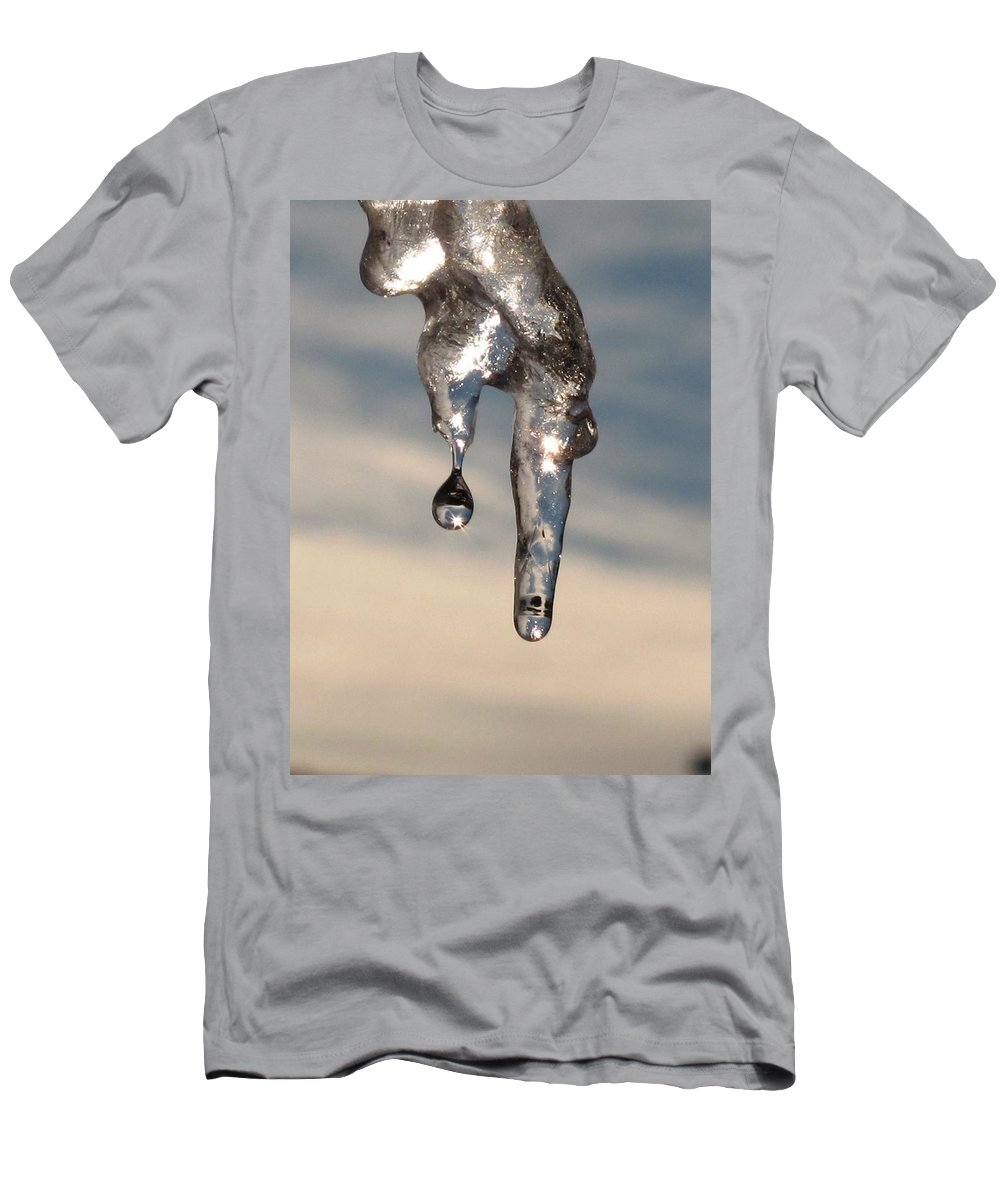 Ice Men's T-Shirt (Athletic Fit) featuring the photograph Melting by Michele Nelson