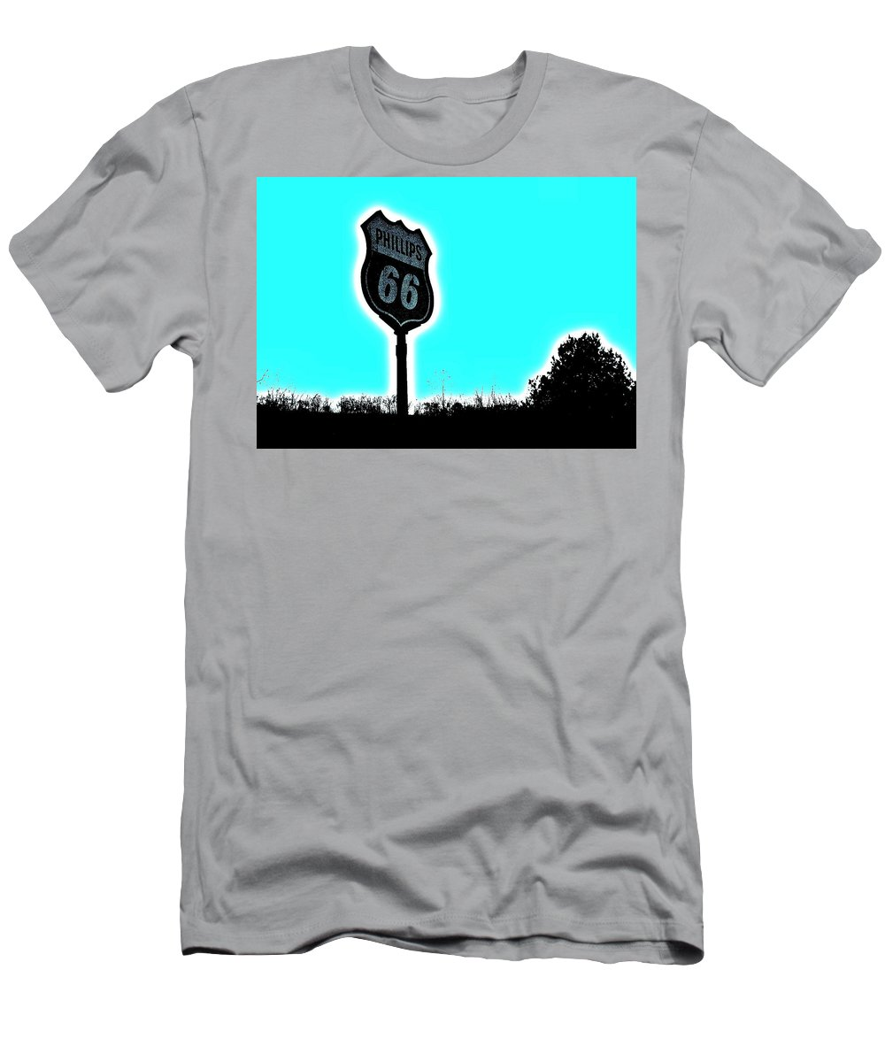 Gas Men's T-Shirt (Athletic Fit) featuring the photograph Middle Of Nowhere by Chris Berry