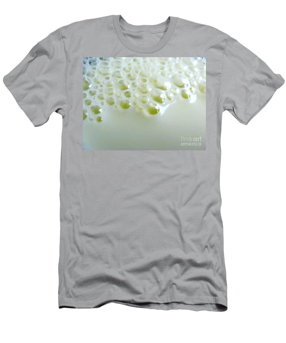 Bubble Men's T-Shirt (Athletic Fit) featuring the photograph Milk Bubbles 1 by Ausra Huntington nee Paulauskaite
