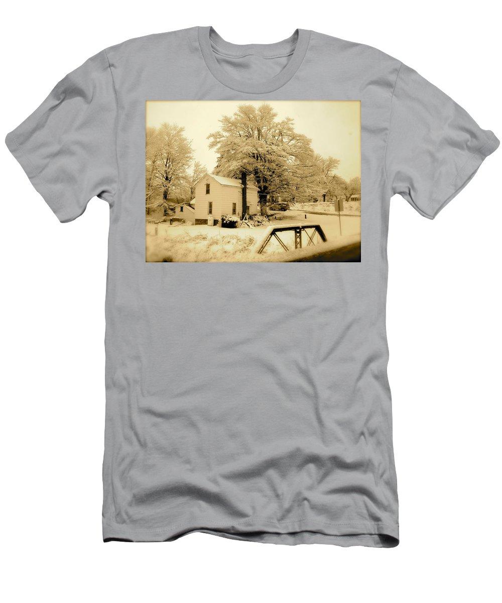 Landscape T-Shirt featuring the photograph Millville by Arthur Barnes