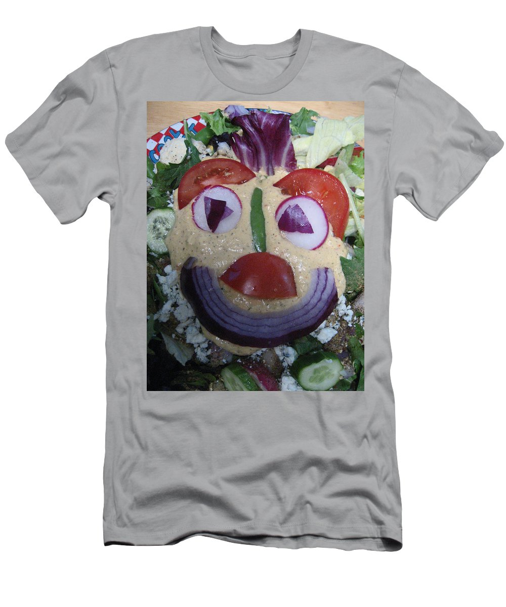 Salad Of The Day Men's T-Shirt (Athletic Fit) featuring the photograph Mohawk Salad Face by Kym Backland