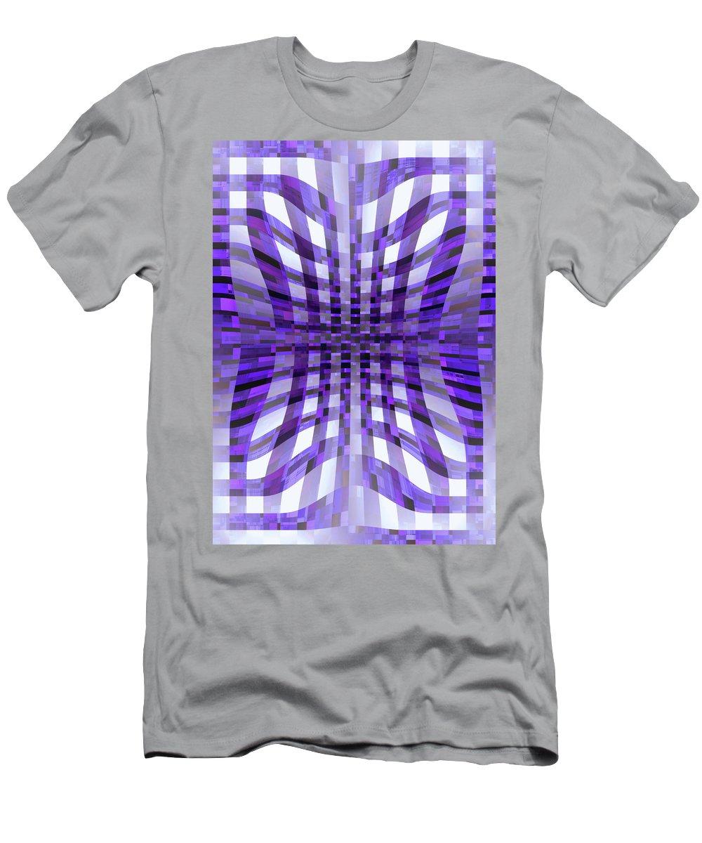 Moveonart! Global Gathering. -- Digital Abstract Art By Jacob Kane -- Omnetra Men's T-Shirt (Athletic Fit) featuring the digital art Moveonart Moveonin by Jacob Kanduch