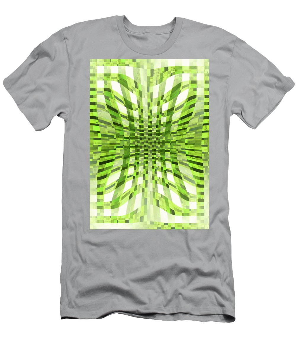 Moveonart! Global Gathering. -- Digital Abstract Art By Jacob Kane -- Omnetra Men's T-Shirt (Athletic Fit) featuring the digital art Moveonart Moveoninzone by Jacob Kanduch