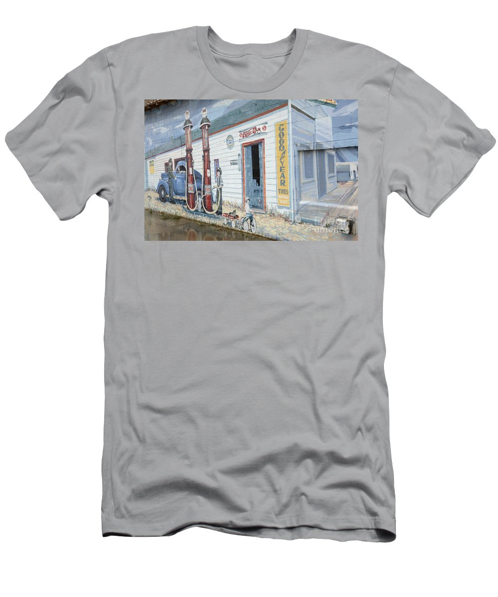 Photography Men's T-Shirt (Athletic Fit) featuring the photograph Mural Art At Consul 2 by Bob Christopher