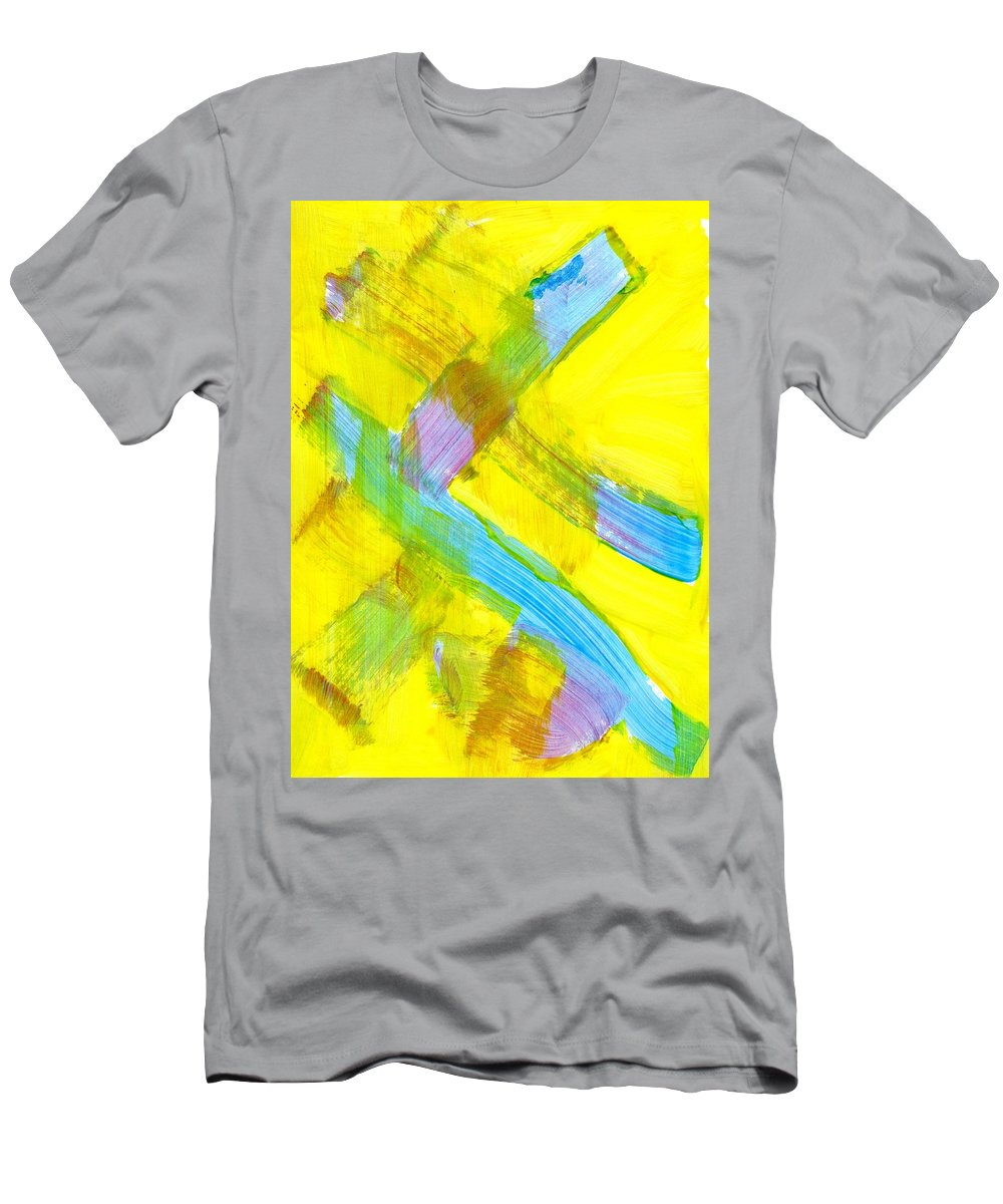 Narrow Escape Men's T-Shirt (Athletic Fit) featuring the painting Narrow Escape by Taylor Webb