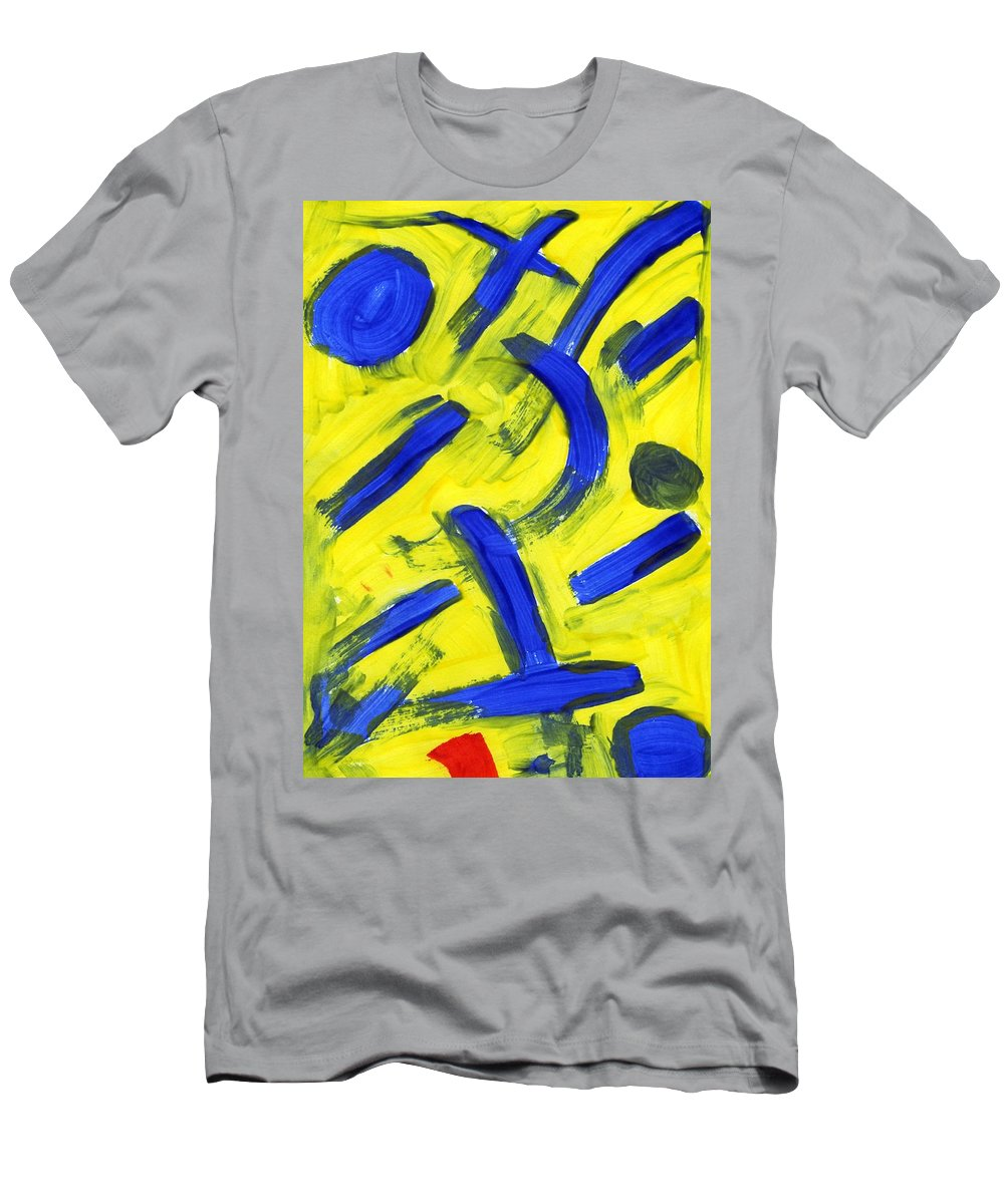 New Emergence Men's T-Shirt (Athletic Fit) featuring the painting New Emergence by Taylor Webb