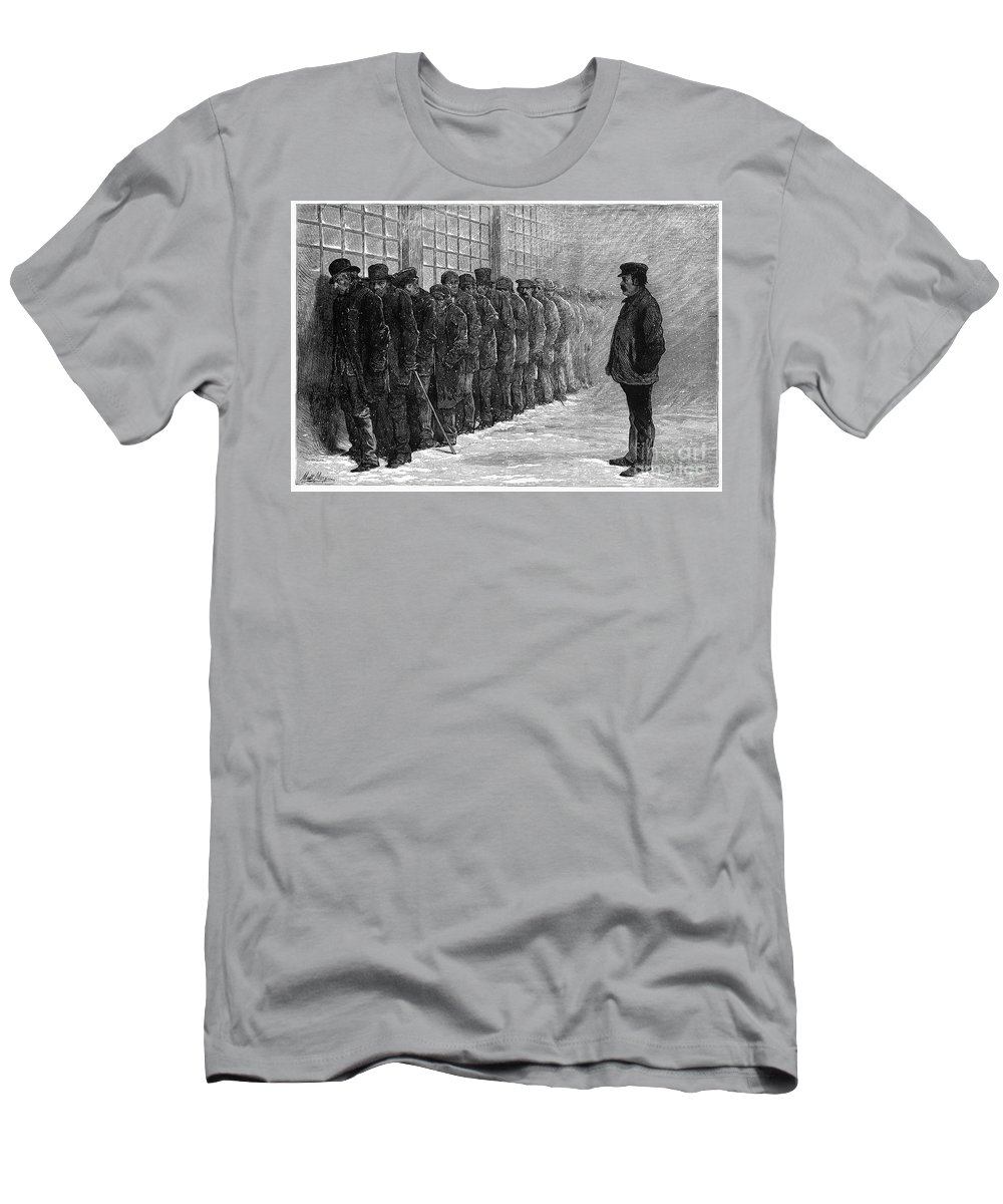 1875 Men's T-Shirt (Athletic Fit) featuring the photograph New York: Poorhouse, 1875 by Granger