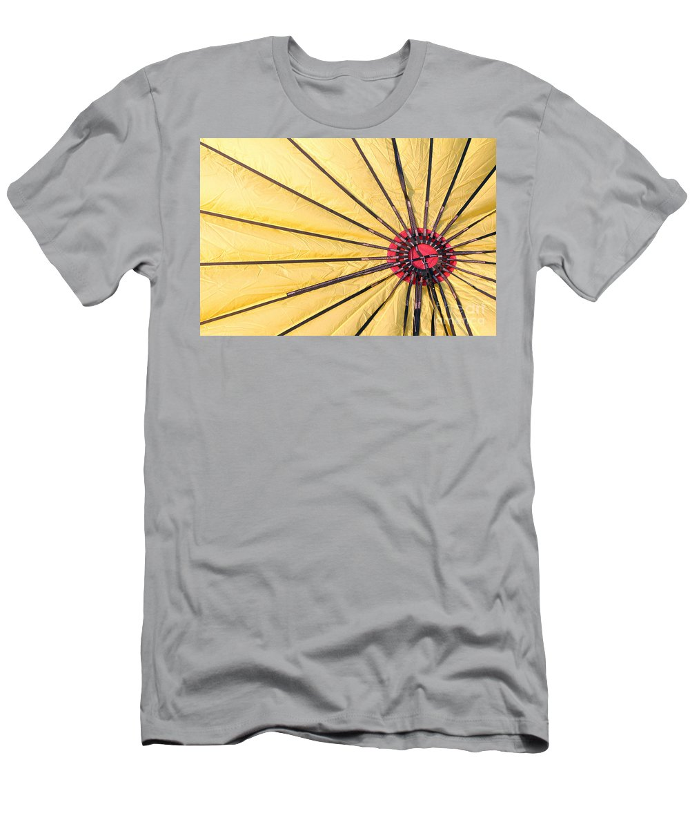 Nylon Men's T-Shirt (Athletic Fit) featuring the photograph Nylon Sun Rays by Alycia Christine