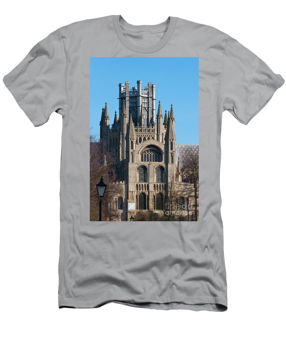Anglia Men's T-Shirt (Athletic Fit) featuring the photograph Octagon Tower by Andrew Michael