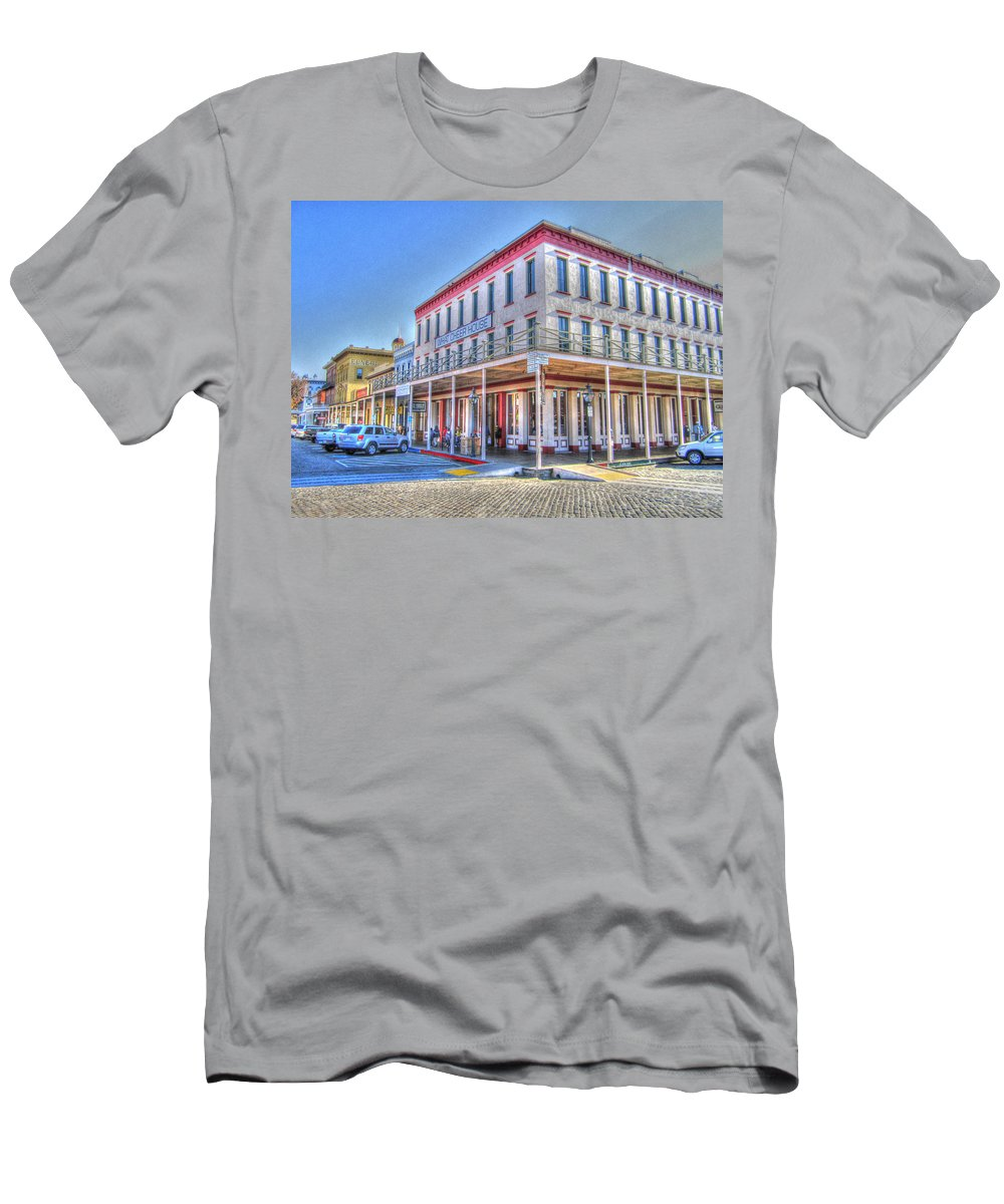 Street Corner T-Shirt featuring the photograph Old Towne Sacramento by Barry Jones