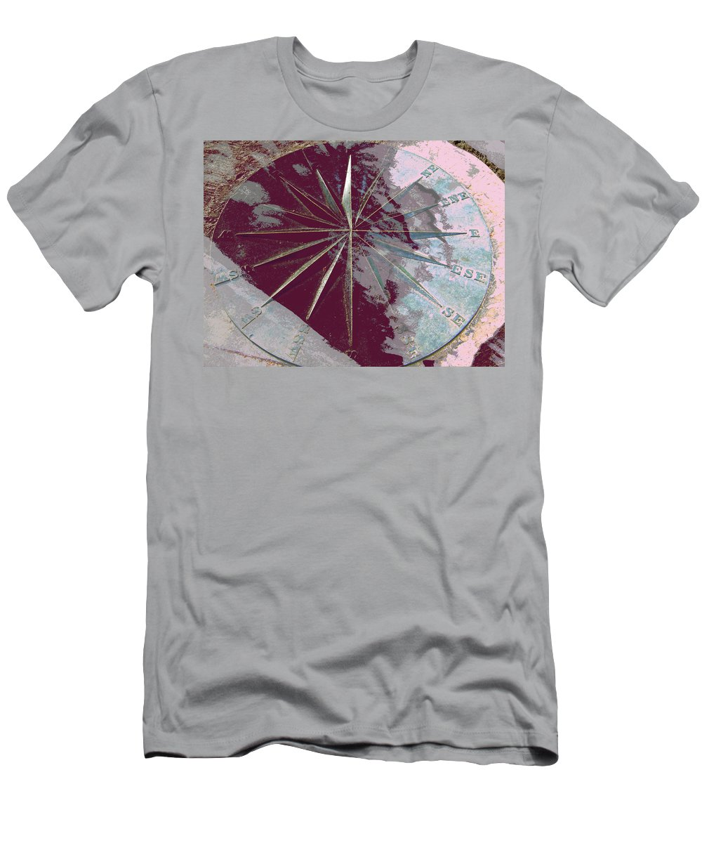 Abstract Men's T-Shirt (Athletic Fit) featuring the photograph Only Time Will Tell by Lenore Senior