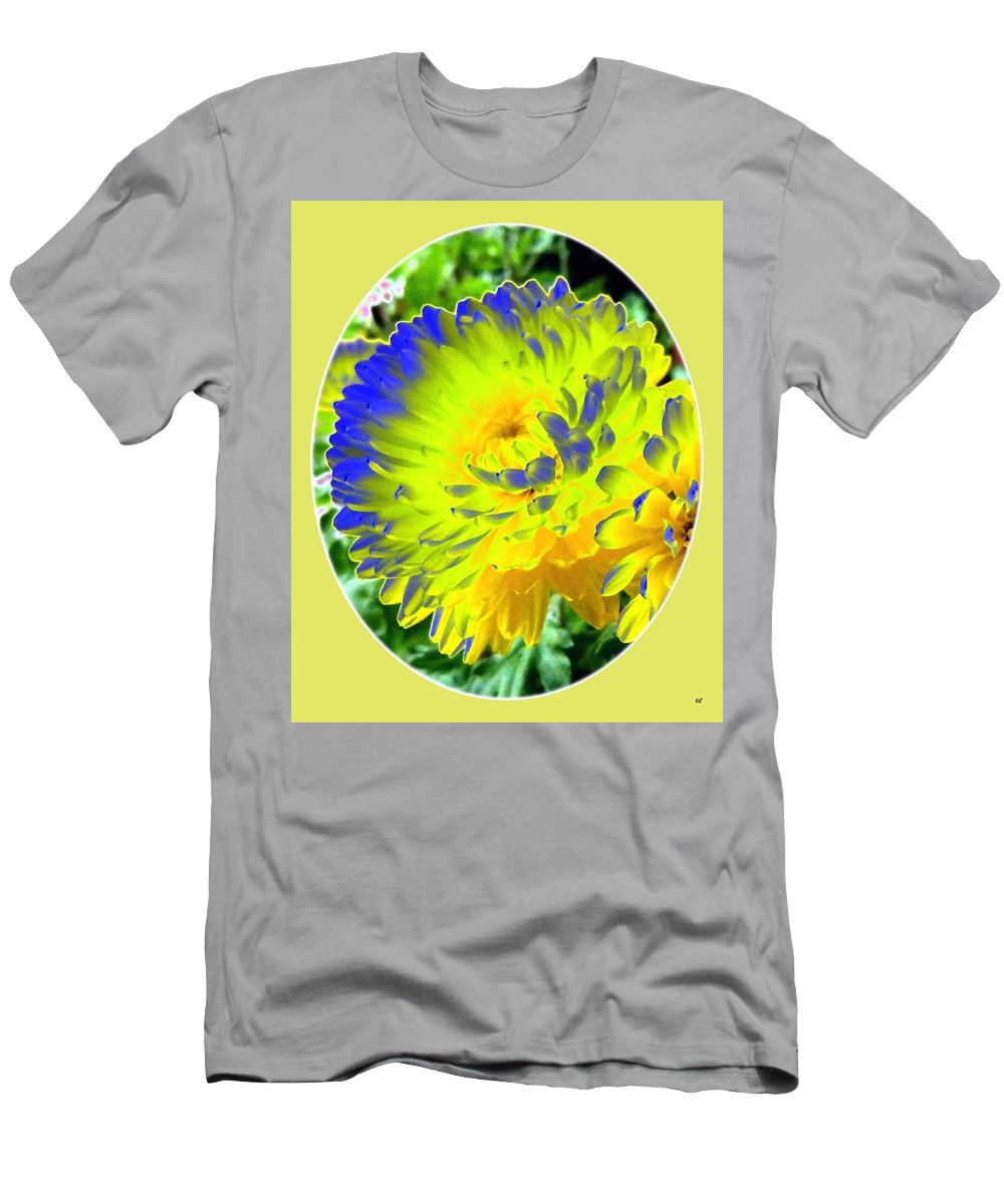 Painted Chrysanthemums Men's T-Shirt (Athletic Fit) featuring the digital art Painted Chrysanthemums by Will Borden