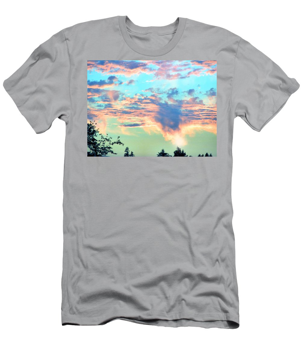Sunset Men's T-Shirt (Athletic Fit) featuring the photograph Parrish Sunset by Rory Sagner