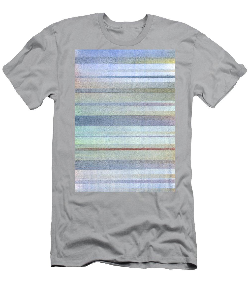 Stripes Men's T-Shirt (Athletic Fit) featuring the painting Pastel Stripes by Hakon Soreide