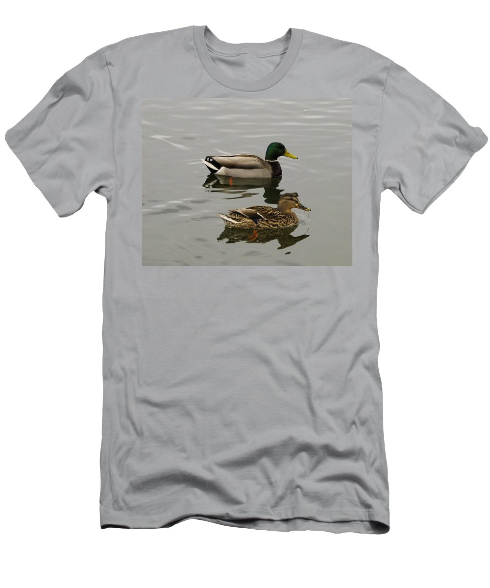 Ducks Men's T-Shirt (Athletic Fit) featuring the photograph Perfect Pair by John Greaves