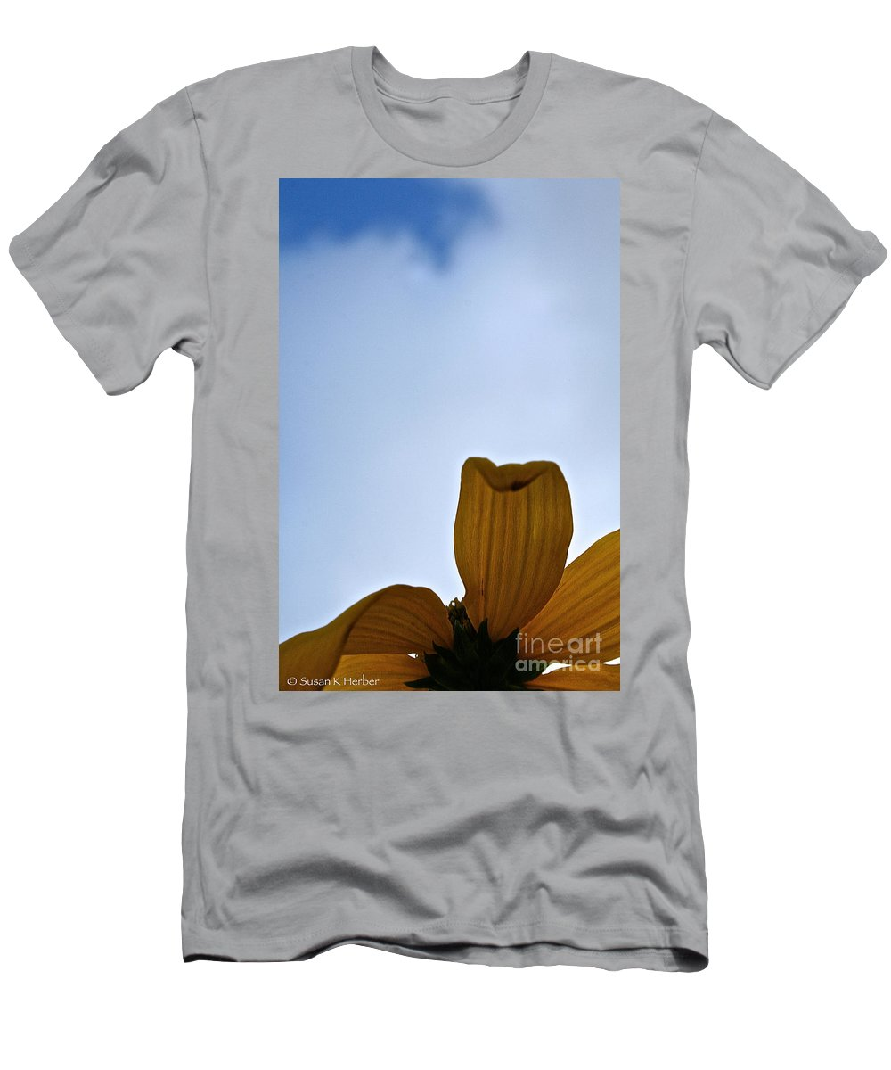 Plant Men's T-Shirt (Athletic Fit) featuring the photograph Petals Rising by Susan Herber