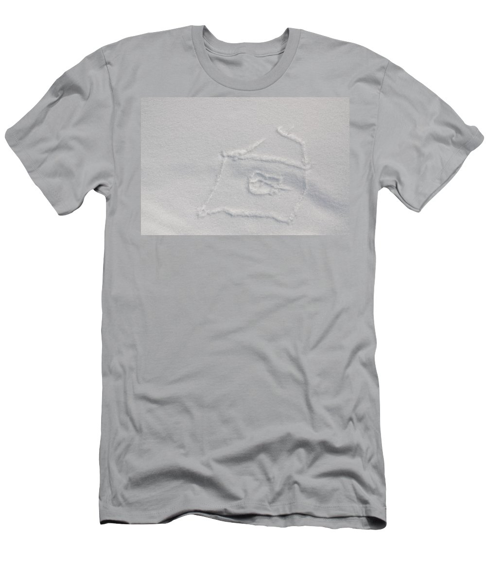 Artwork Men's T-Shirt (Athletic Fit) featuring the photograph Picture On The Snow by Michael Goyberg