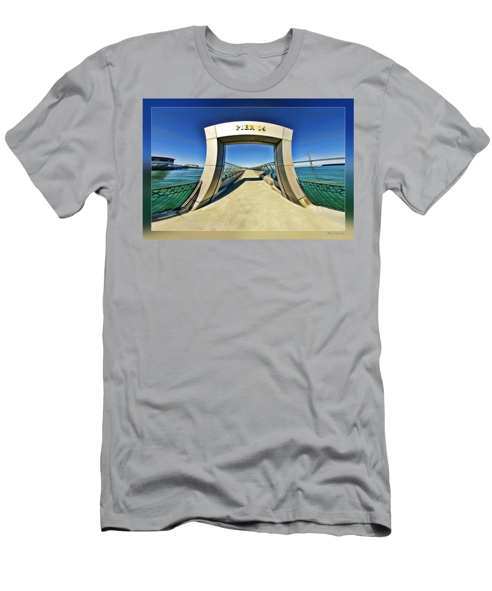Art Photography Men's T-Shirt (Athletic Fit) featuring the photograph Pier 14 by Blake Richards