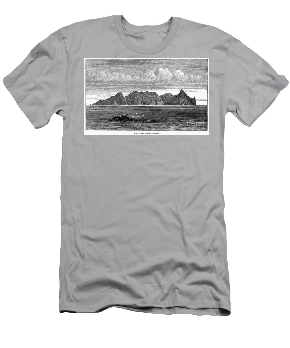 1879 Men's T-Shirt (Athletic Fit) featuring the photograph Pitcairn Island, 1879 by Granger