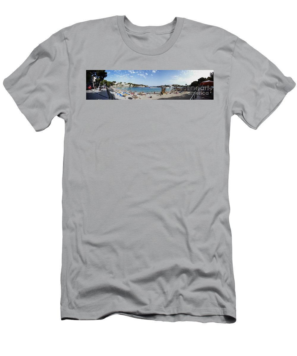 Playa Men's T-Shirt (Athletic Fit) featuring the photograph Porto Cristo Beach by Agusti Pardo Rossello