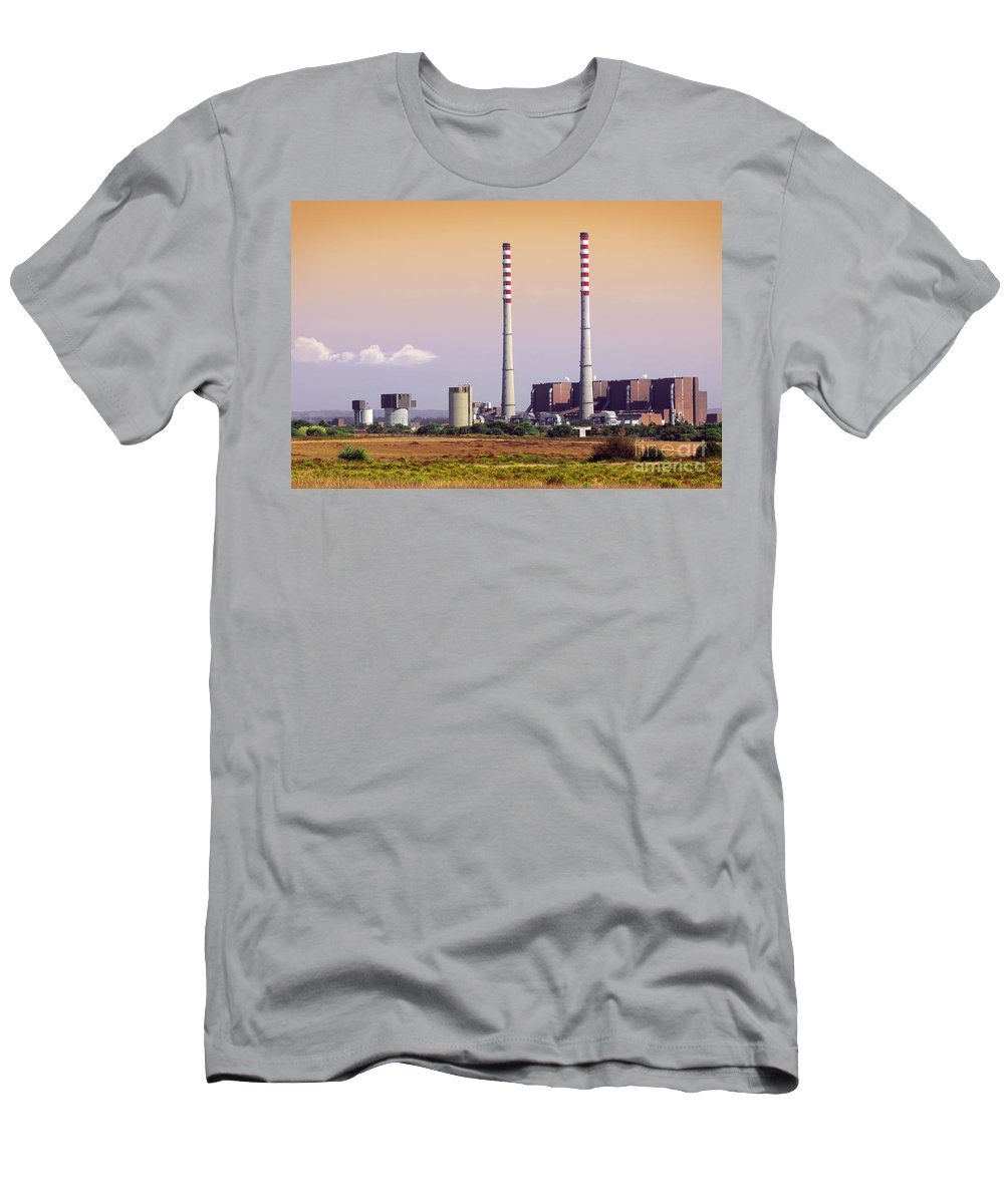 Building Men's T-Shirt (Athletic Fit) featuring the photograph Power Plant by Carlos Caetano
