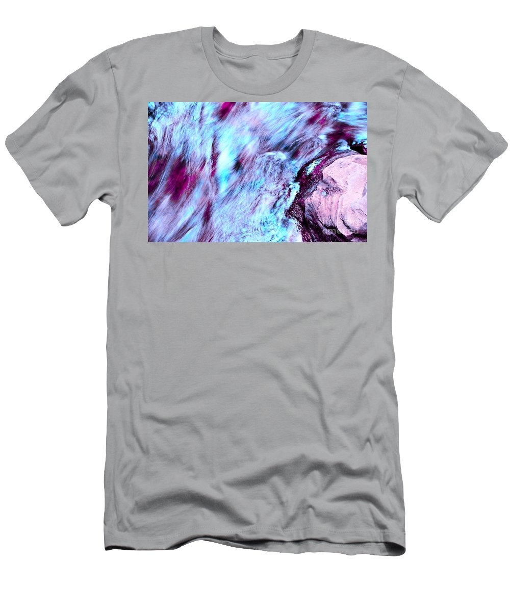Letchworth Men's T-Shirt (Athletic Fit) featuring the photograph Rainbow Colors by Kathleen Struckle