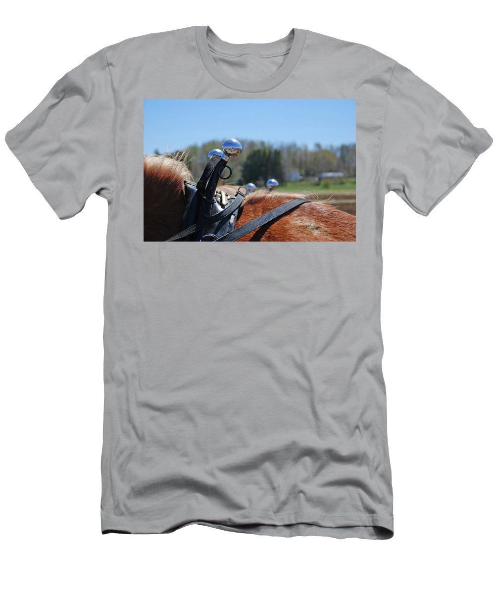 Horse Men's T-Shirt (Athletic Fit) featuring the photograph Reflections 1604 by Guy Whiteley
