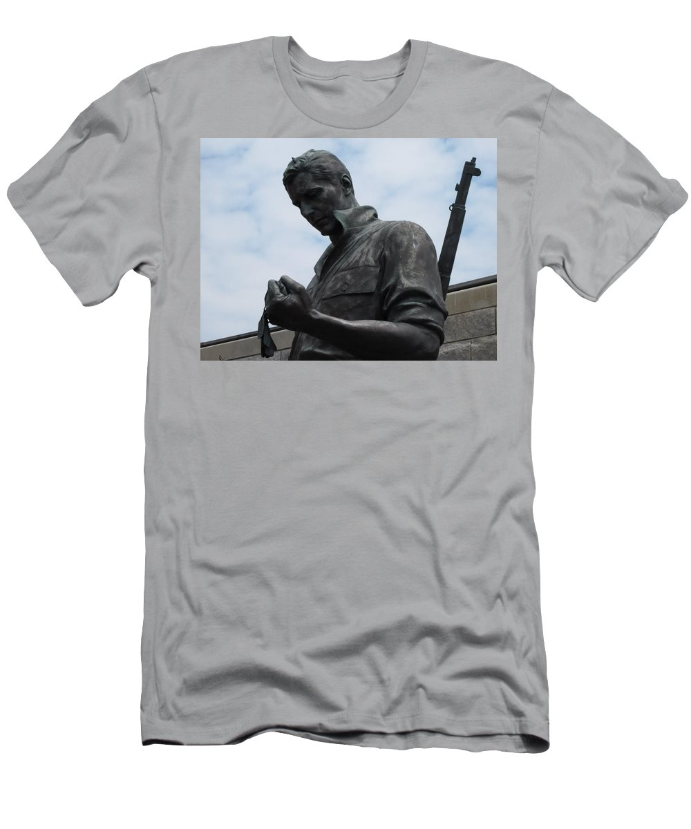 Solider Men's T-Shirt (Athletic Fit) featuring the photograph Remember Me by Michele Nelson