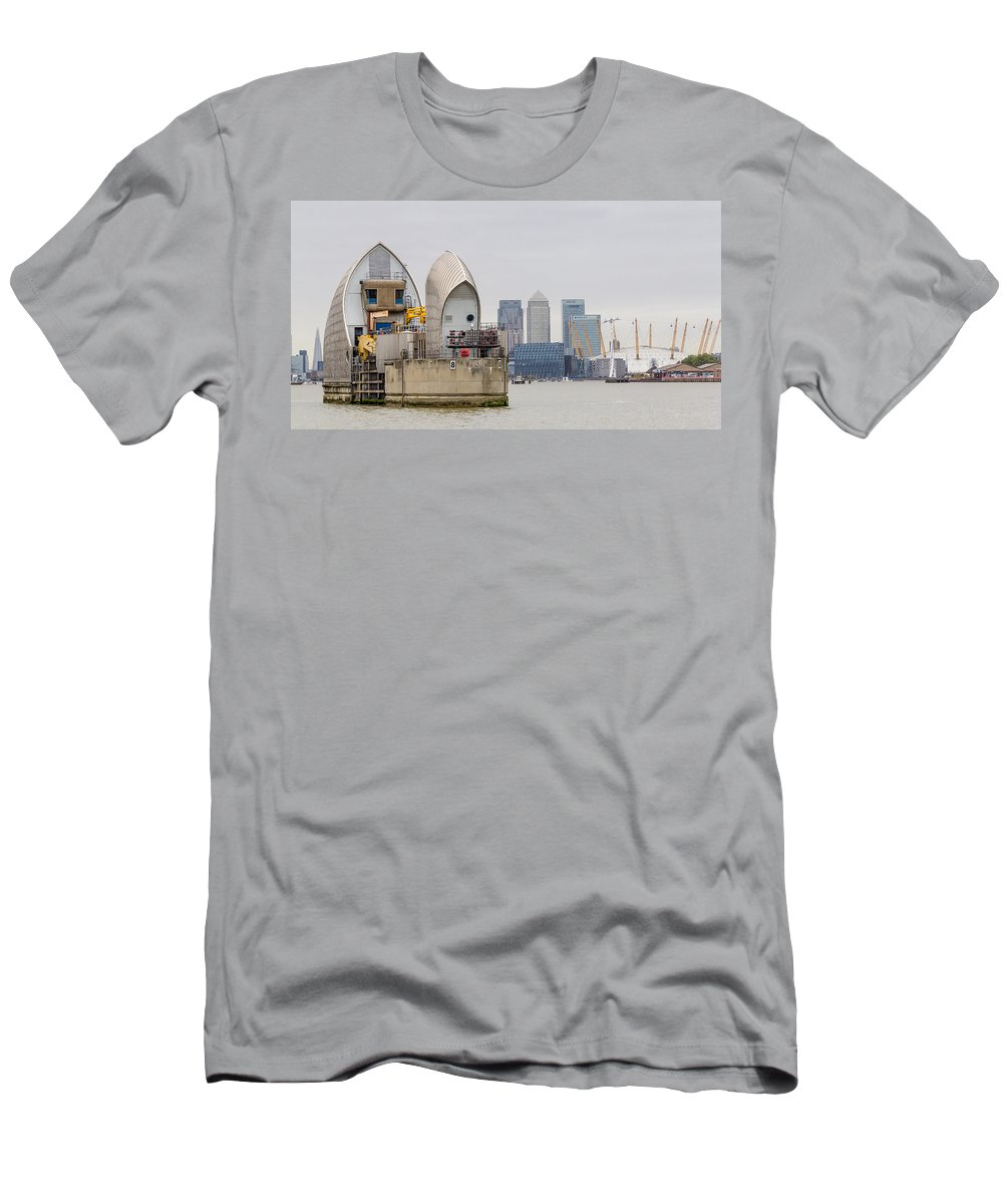 River Thames Men's T-Shirt (Athletic Fit) featuring the photograph River Thames Landscape by Dawn OConnor