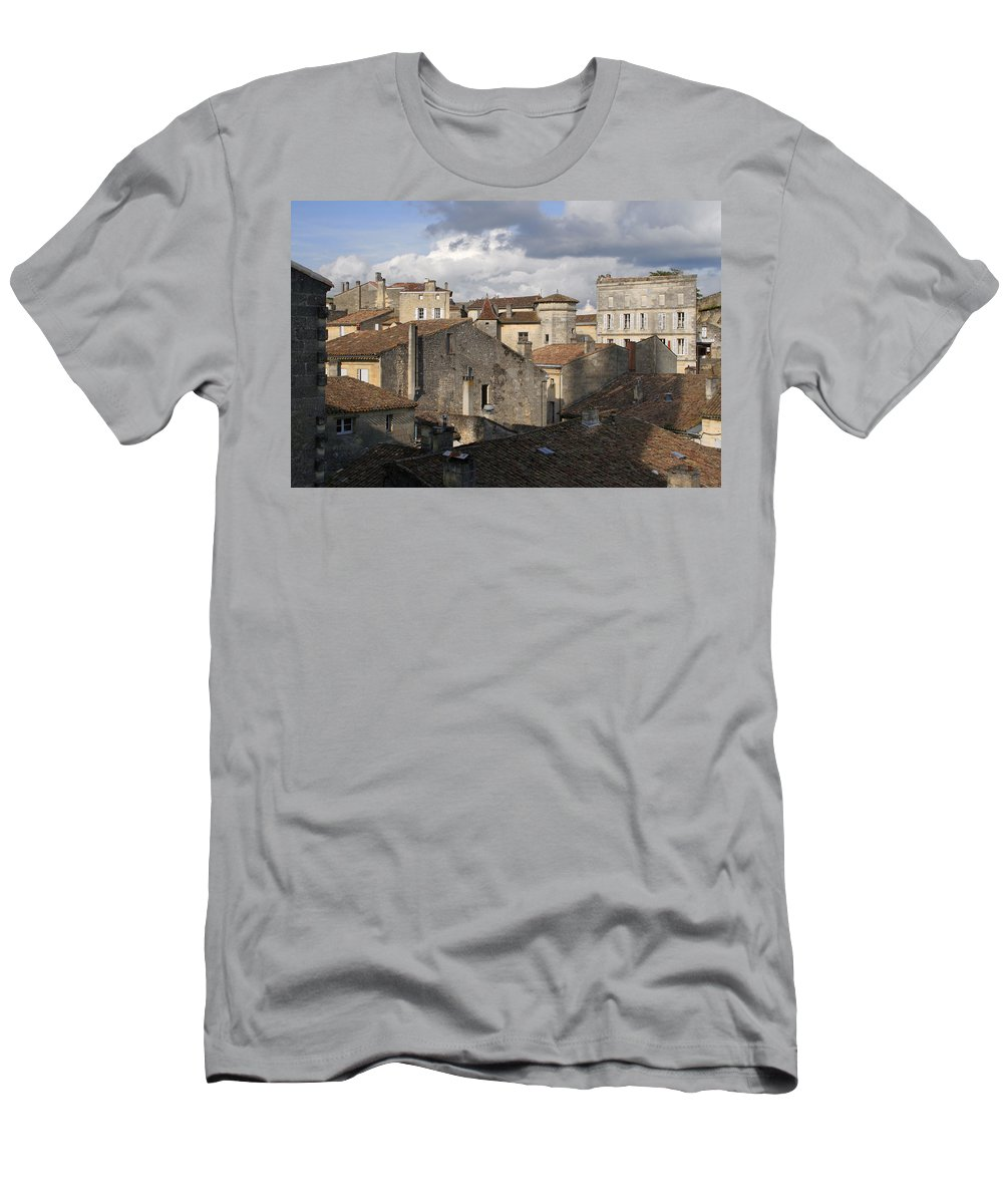 Roof Top View Men's T-Shirt (Athletic Fit) featuring the photograph Roof Top View by Wes and Dotty Weber