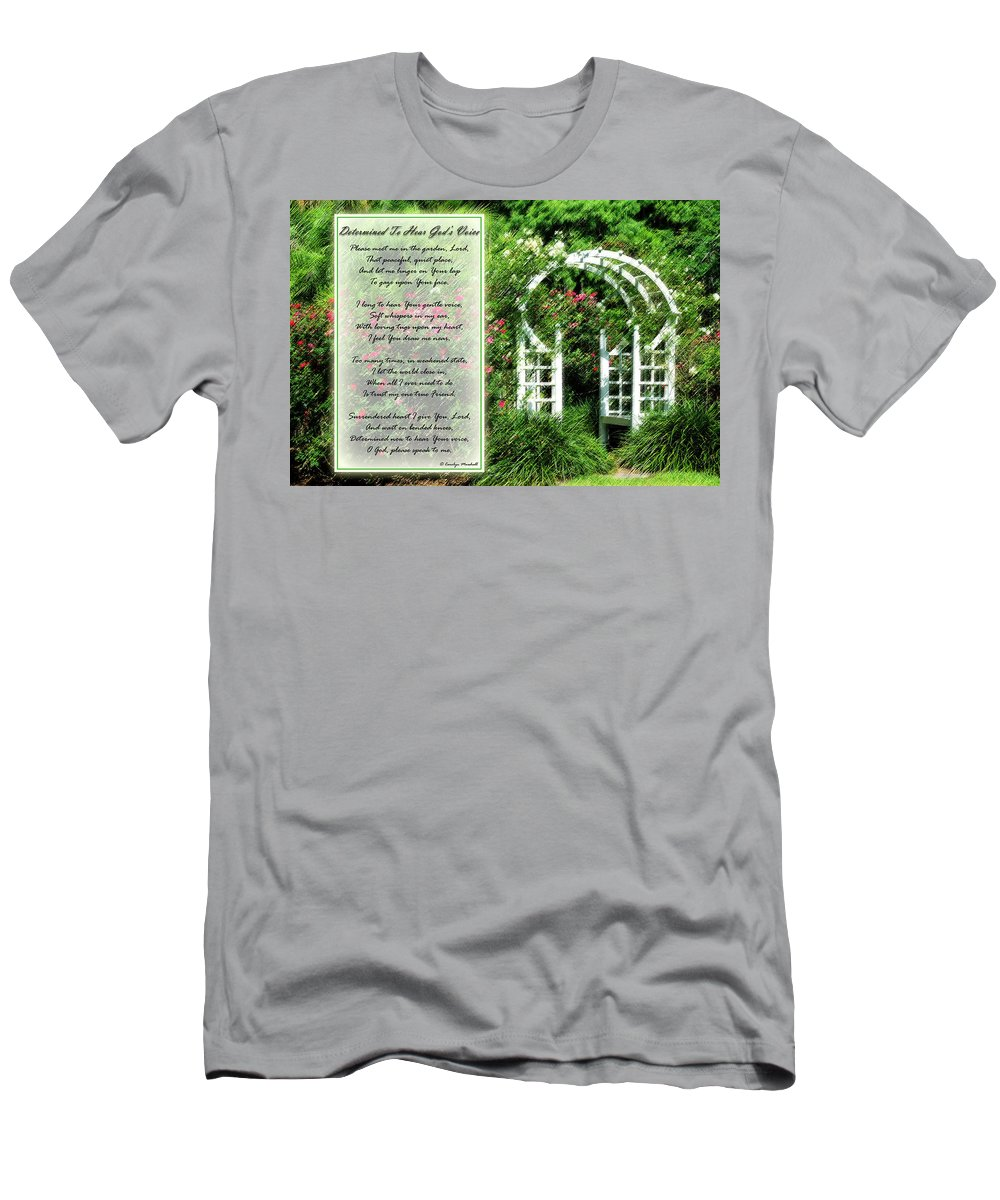 Rose Men's T-Shirt (Athletic Fit) featuring the photograph Rose Garden by Carolyn Marshall