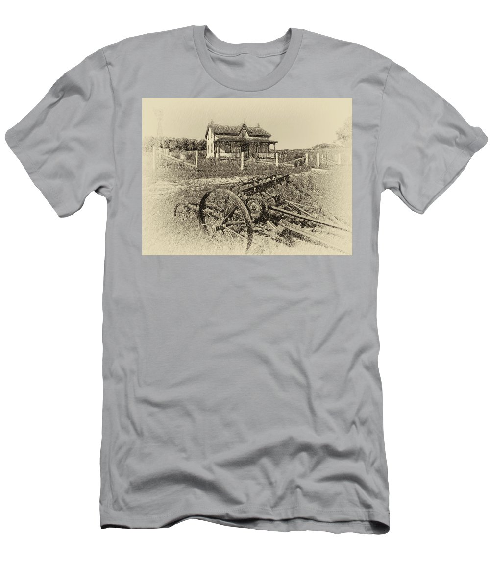 Grey Roots Museum & Archives Men's T-Shirt (Athletic Fit) featuring the photograph Rural Ontario Antique by Steve Harrington