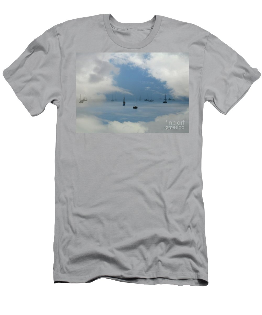 Men's T-Shirt (Athletic Fit) featuring the photograph Sailboats by Stephanie Laird