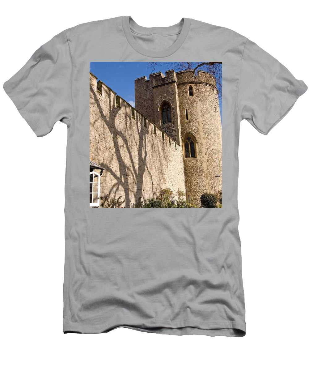 Europe Men's T-Shirt (Athletic Fit) featuring the photograph Salt Tower by Mary Lane