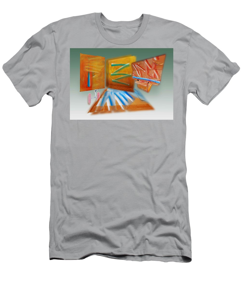 Tsunami Men's T-Shirt (Athletic Fit) featuring the painting Shock Tide by Charles Stuart