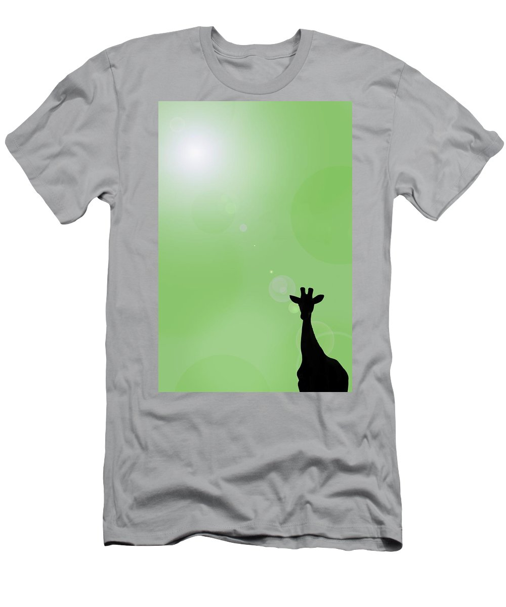 Composite Men's T-Shirt (Athletic Fit) featuring the photograph Silhouette Of A Giraffe by Chris Knorr