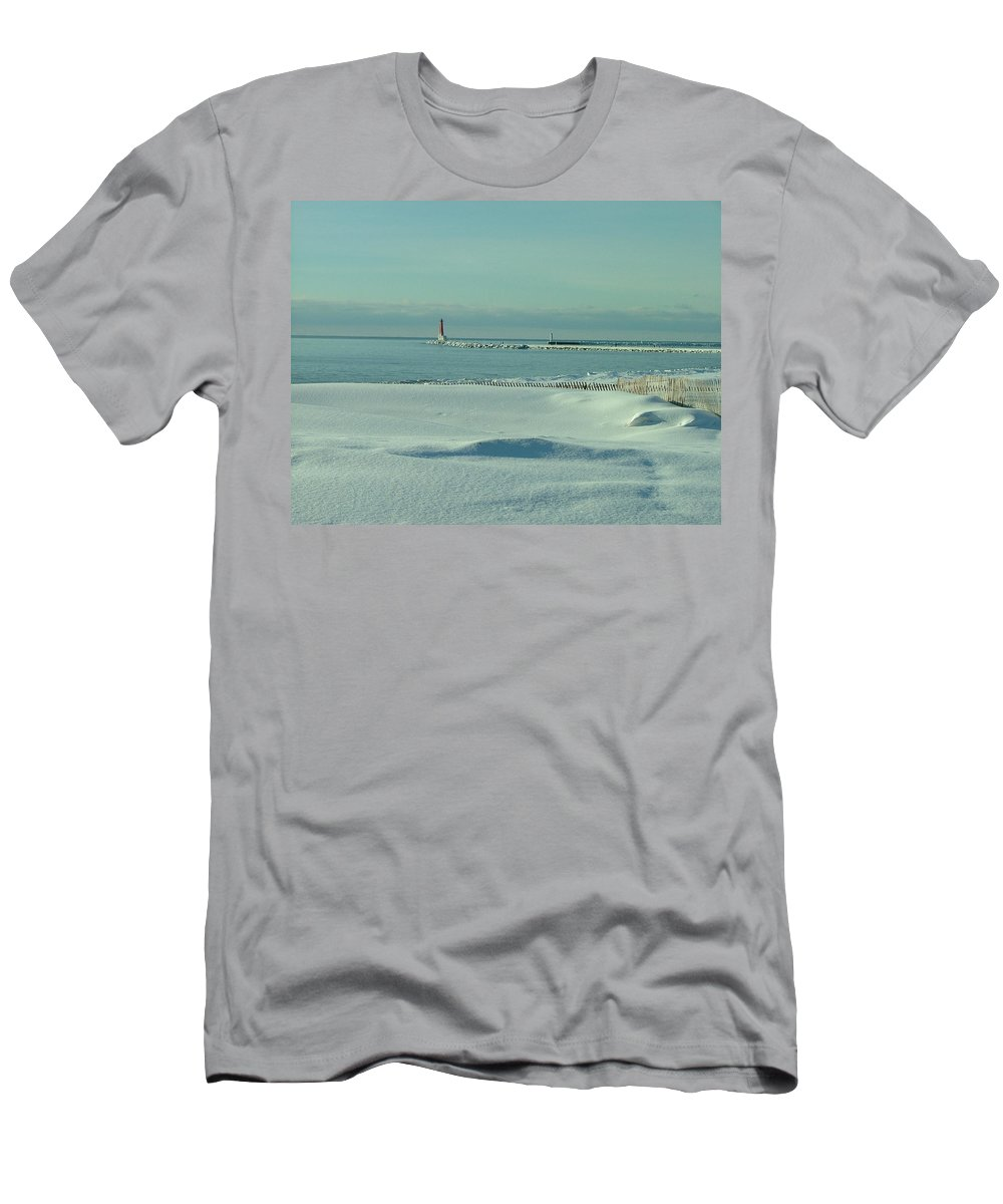 Landscape Men's T-Shirt (Athletic Fit) featuring the photograph Sky Is Blue by Dennis Pintoski