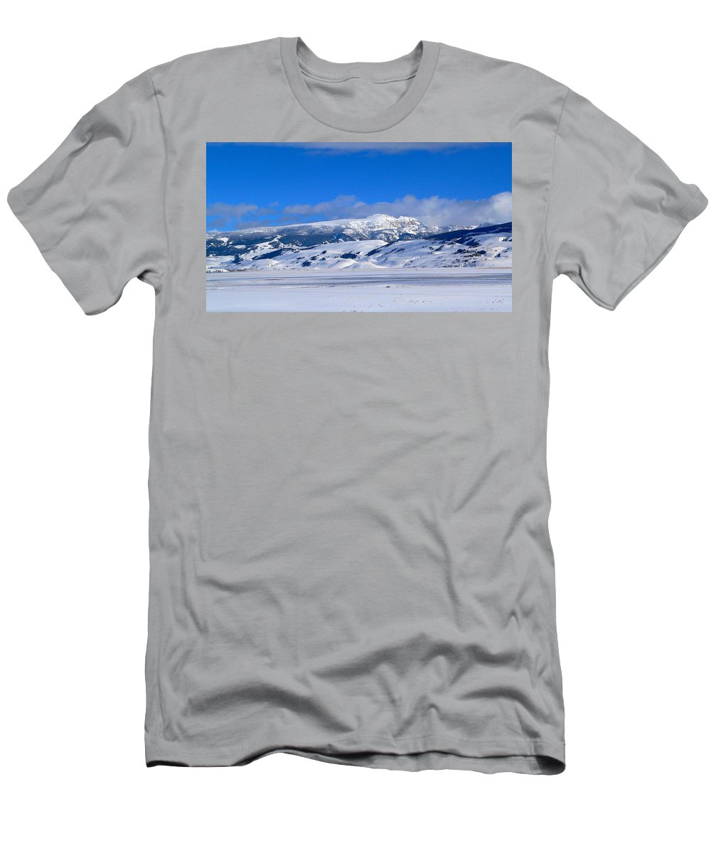 Blue Sky Men's T-Shirt (Athletic Fit) featuring the photograph Sleeping Indian by Eric Tressler
