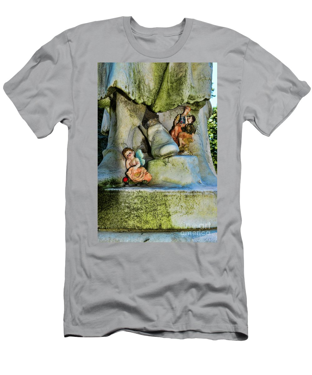 Small Gifts For The Departed Men's T-Shirt (Athletic Fit) featuring the photograph Small Gifts For The Departed by Paul Ward