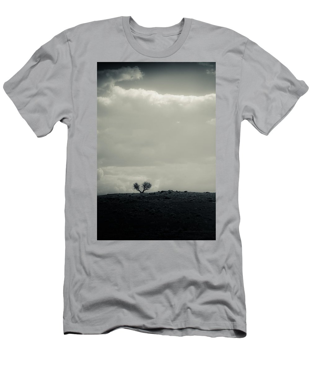 Tree Men's T-Shirt (Athletic Fit) featuring the photograph Small In A Large World by Scott Sawyer