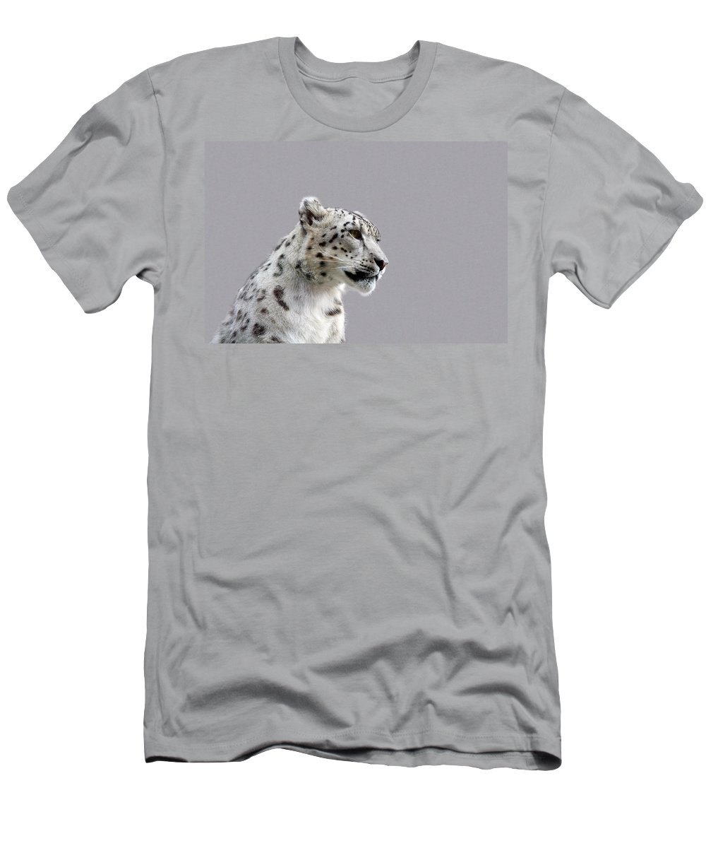 Animal Men's T-Shirt (Athletic Fit) featuring the photograph Snow Leopard by Paul Fell