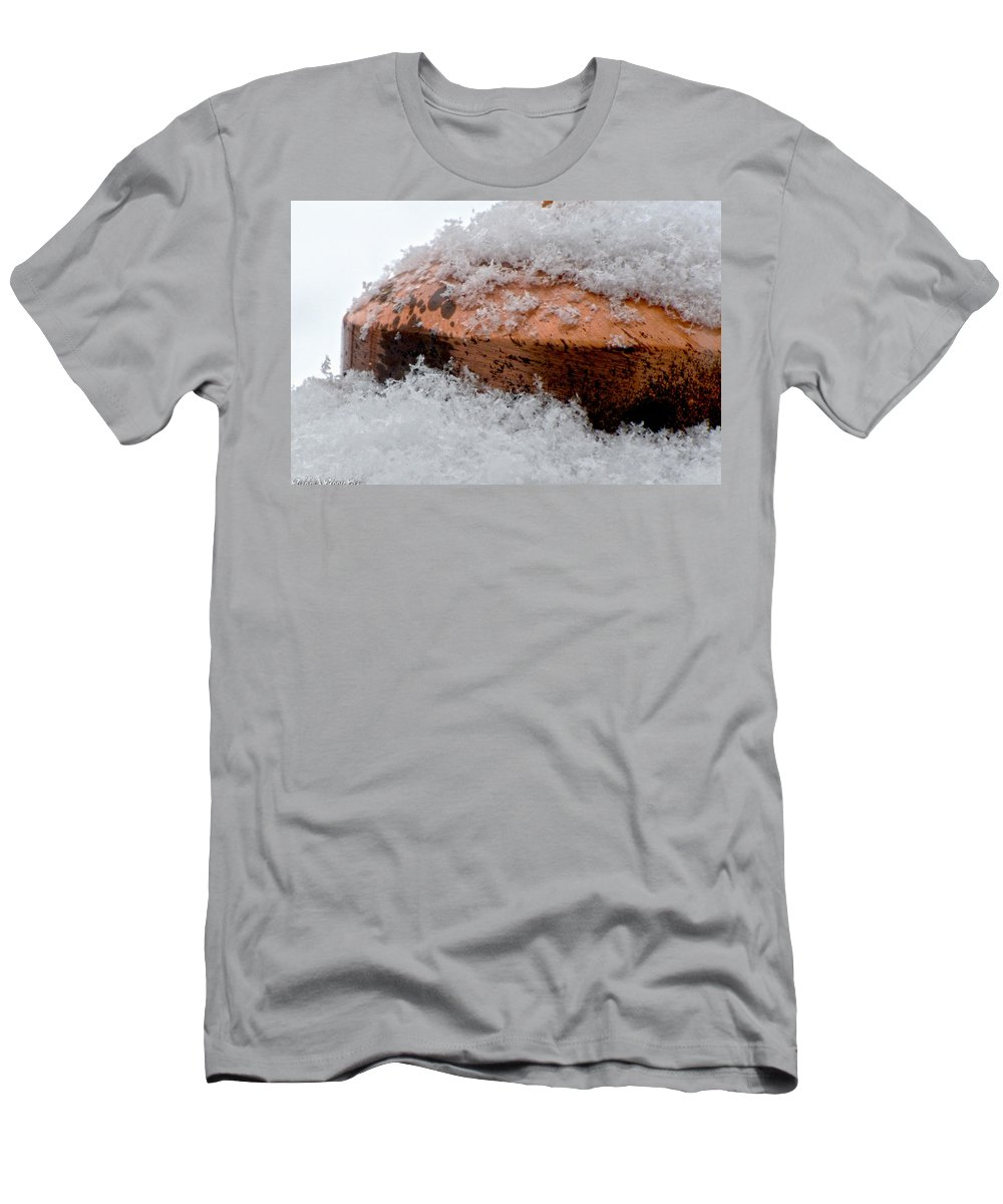 Men's T-Shirt (Athletic Fit) featuring the photograph Snowflakes by Debbie Portwood